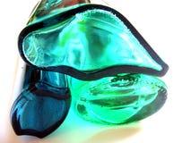 L'oceano colora i cristalli Fotografie Stock Libere da Diritti