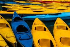 L'oceano kayaks fondo Fotografia Stock Libera da Diritti