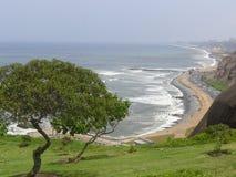L'oceano Pacifico dal parco di Yitzhak Rabin in Miraflores Fotografia Stock Libera da Diritti