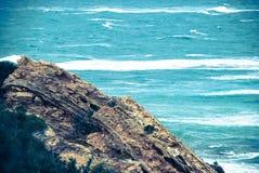 L'oceano potente, nessun cielo nella vista Fotografie Stock Libere da Diritti