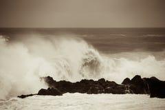 L'oceano prima della tempesta in Tenerife, Spagna Fotografie Stock