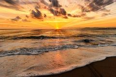 L'oceano Sunset Immagini Stock Libere da Diritti