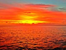 L'oceano Sunset Fotografie Stock Libere da Diritti