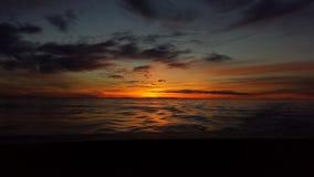 L'oceano Sunset Immagine Stock Libera da Diritti