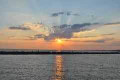 L'oceano Sunset Fotografia Stock Libera da Diritti