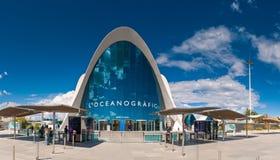 L'Oceanogràfic akvariumstad av konster och vetenskaper, Valencia, Sp royaltyfri bild