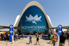 L`Oceanografic The Oceanographic In Valencia. VALENCIA, SPAIN - JULY 29, 2016: L`Oceanografic The Oceanographic is an oceanarium situated in the east of the city Royalty Free Stock Photography