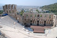 l'Odeon de l'Atticus de Herodes, Athènes Photo stock