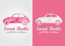 L'odeur créative de conception de scarabée doux aiment une lucette Photos libres de droits