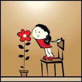 L'odore di amore. illustrazione di stock