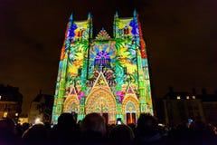 L ` Odyssée des Rêves het geluid en het licht tonen in Nantes Royalty-vrije Stock Afbeelding