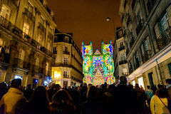 L ` Odyssée des Rêves światło i dźwięk pokazuje w Nantes Obrazy Stock
