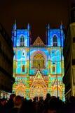 L ` Odyssée des Rêves światło i dźwięk pokazuje w Nantes Obraz Stock