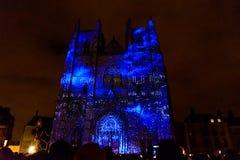 L ` Odyssée des Rêves światło i dźwięk pokazuje w Nantes Fotografia Stock