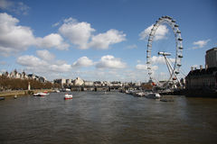 L'OEIL au-dessus de l'horizon de Londres Image libre de droits