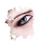L'oeil d'une fille Photo libre de droits