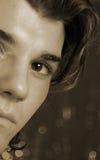 L'oeil de jeune homme photo libre de droits
