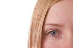 L'oeil de la fille Image stock
