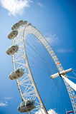 L'oeil de Londres est une grande roue géante située sur les banques de la Tamise à Londres, Angleterre. Photos libres de droits
