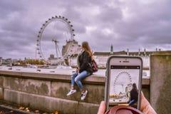 L'oeil de Londres de fonctionnaire photographie stock libre de droits