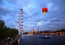 L'oeil et le Big Ben de Londres Photo stock