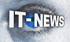 L'oeil informatique d'actualités avec la matrice regarde le concept de visionneuse image libre de droits