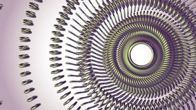 L'oeil vert tournant en mouvement de chaîne en métal de fluide entoure la nouvelle qualité de boucle de l'animation 3d de mouveme illustration libre de droits