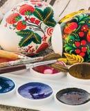 Aquarelle peinte religieuse d'oeuf de pâques Image libre de droits