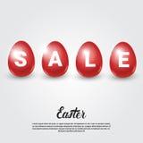 L'offerta speciale di compera di vendita di Pasqua ha decorato l'insegna variopinta di festa dell'uovo illustrazione di stock