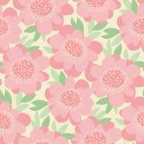 L'offre décorative en pastel fleurit le modèle sans couture Image stock