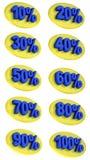 L'offre de promotion de signes de pourcentage à vendre escomptent l'illustration 3D Photos libres de droits