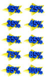 L'offre de promotion de signes de pourcentage à vendre escomptent l'illustration 3D Images stock
