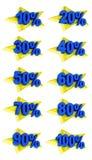L'offre de promotion de signes de pourcentage à vendre escomptent l'illustration 3D Photos stock