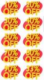 L'offre de promotion de signes de pourcentage à vendre escomptent l'illustration 3D Images libres de droits