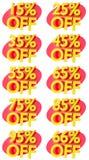 L'offre de promotion de signes de pourcentage à vendre escomptent l'illustration 3D Image libre de droits