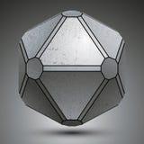 L'oggetto galvanizzato dimensionale ha creato dalle figure geometriche, me Immagini Stock