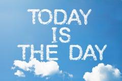 L'oggi è il giorno fotografie stock