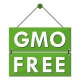 L'OGM libèrent le signe Photo stock
