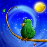 L'oiseau attendent la datte illustration libre de droits