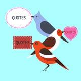 L'oiseau cite l'illustration plate de conception Photo libre de droits