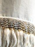 L'oiseau plumes le fond de textile Photographie stock