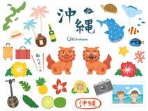 L'Okinawa set3 illustration de vecteur