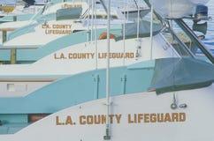 L A Okręgu administracyjnego ratownika łodzie w Marina Del Rey, Kalifornia Obraz Royalty Free