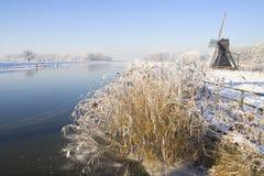 L'Olanda congelata Fotografia Stock Libera da Diritti