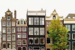 L'olandese alloggia la facciata nella città di Amsterdam Fotografie Stock Libere da Diritti