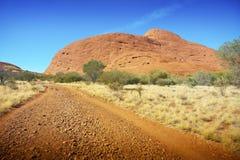 L'Olgas dans l'Australie à l'intérieur Photos stock