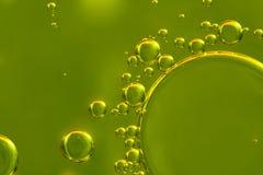 L'olio cade il primo piano Fotografia Stock