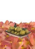 L'olio d'oliva è un prodotto naturale Fotografie Stock