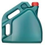 L'olio può isolato sul percorso bianco di ritaglio + del fondo Immagine Stock Libera da Diritti