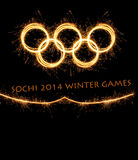 L'olympiade Sotchi Russie de 2014 hivers Images stock